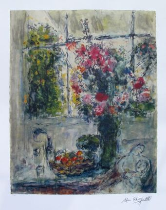 Marc Chagall FRUITS AND FLOWERS Limited Edition Lithograph
