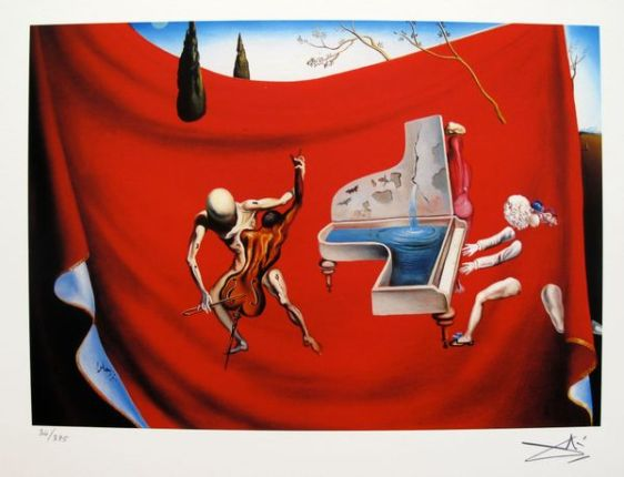 Salvador Dali MUSICAL TEMPEST Facsimile Signed & Numbered Giclee