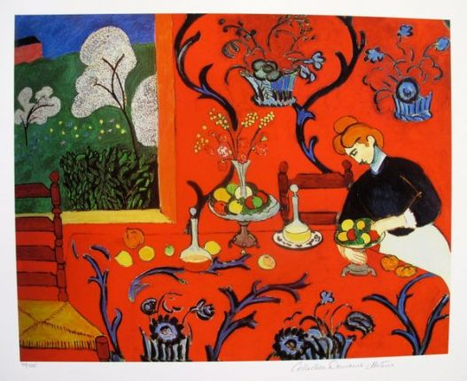 Henri Matisse THE RED ROOM Estate Signed & Stamped Limited Edition Giclee
