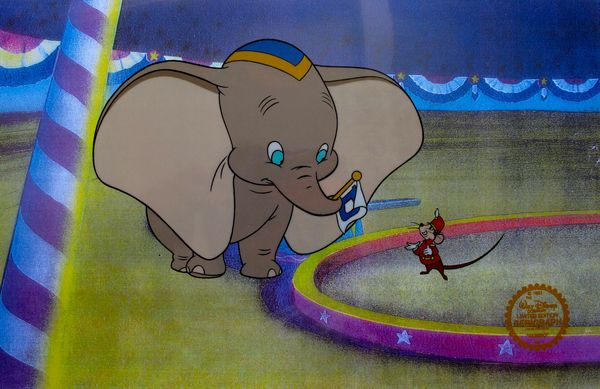 Disney DUMBO Original Sericel Serigraph Cel Animation Art