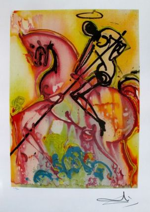 Salvador Dali Dalinean Horse ST. GEORGE AND THE DRAGON Limited Edition Lithograph