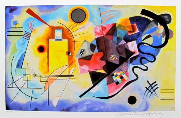 Wassily Kandinsky YELLOW, RED AND BLUE Estate Signed Limited Edition Giclee