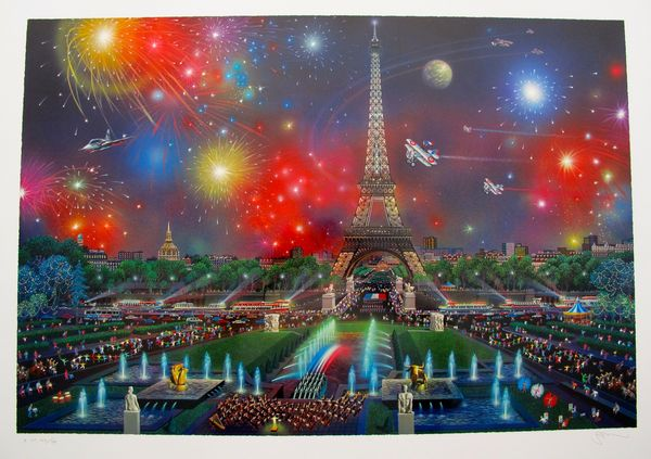 Alexander Chen EIFFEL TOWER Limited Ed. Hand Signed Serigraph