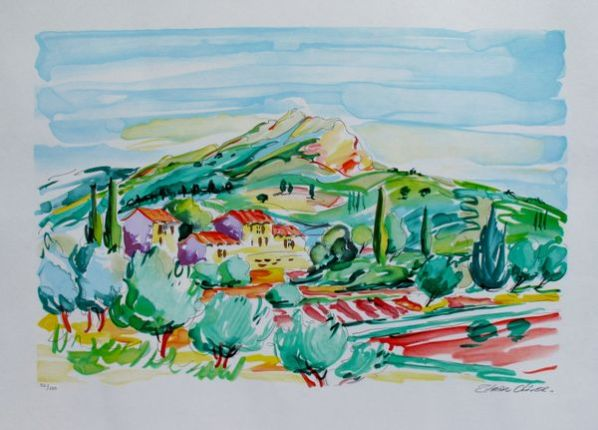 Oliver Zlatku SUMMER FIELDS Limited Ed. Hand Signed Lithograph