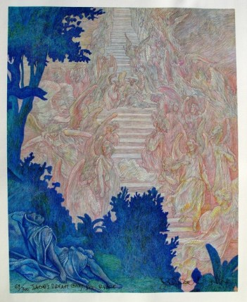 Guillaume Azoulay JACOB DREAM Hand Signed Giclee on Canvas