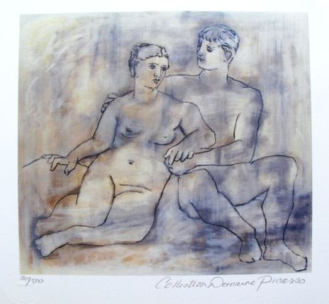 Pablo Picasso LOVERS Estate Signed Limited Edition Small Giclee