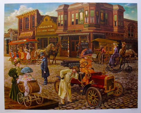 Lee Dubin MAIN STREET Hand Signed Limited Edition Lithograph