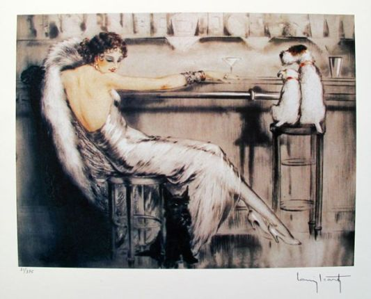 Louis Icart MARTINI Facsimile Signed Limited Edition Giclee Small