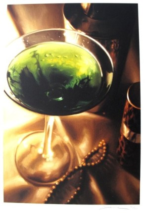 Carrie Graber MARTINI BAR Hand Signed Giclee on Paper