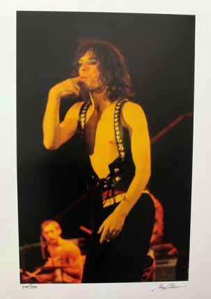 MICK JAGGER Hand Signed Limited Edition Photograph by GREGG COBARR