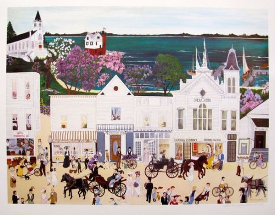"""DENEILLE SPOHN MOES """"OPERA HOUSE"""" Hand Signed Limited Edition Serigraph"""