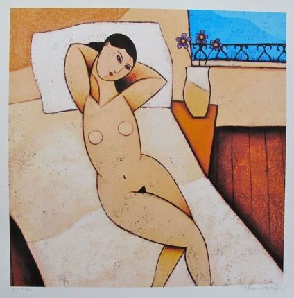 PAINE PROFFITT LATE DAY SIESTA Hand Signed Giclee Nude Woman
