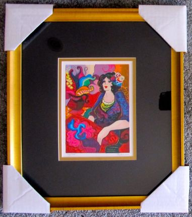 """Patricia Govezensky """"PEACEFUL THOUGHTS"""" Framed Hand Signed Limited Edition Serigraph"""