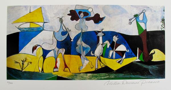Pablo Picasso JOY OF LIVING Estate Signed Limited Edition Small Giclee