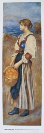 Pierre Auguste Renoir A GIRL WITH A BASKET OF ORANGES Plate Signed Lithograph