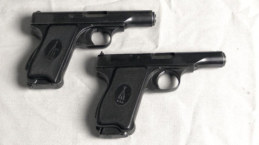Bsa's Experimental 34 Caliber Pistols At James D Julia