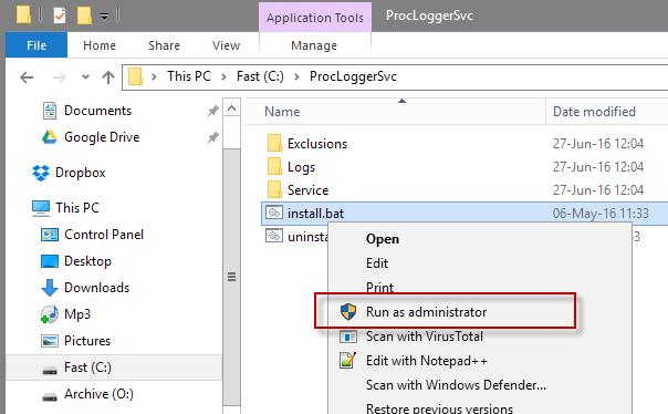 Memonitor penciptaan dan berakhirnya Proses pada Windows