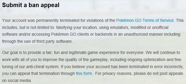 Cara mengatasi Banned Pokemon GO