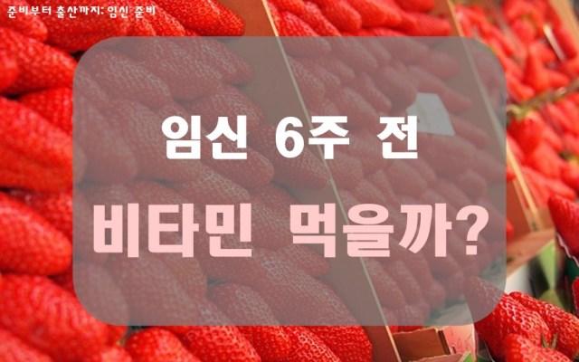 비타민 먹을까? 임신 6주 전4 min read