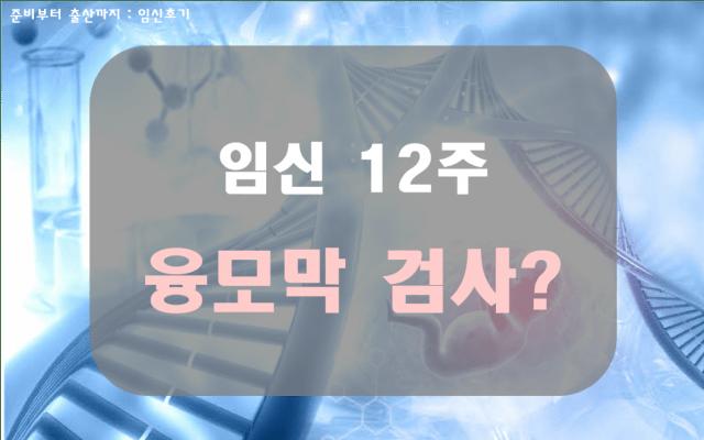 임신12주, 초기 기형아 진단검사: 융모막검사4 min read