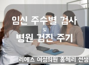 임신 주수별 검사 및 병원 검진 주기