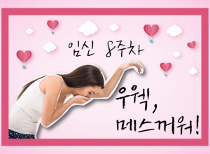임신 중 구역 구토, 우웩… 겁나 메스꺼워 (임신 8주)