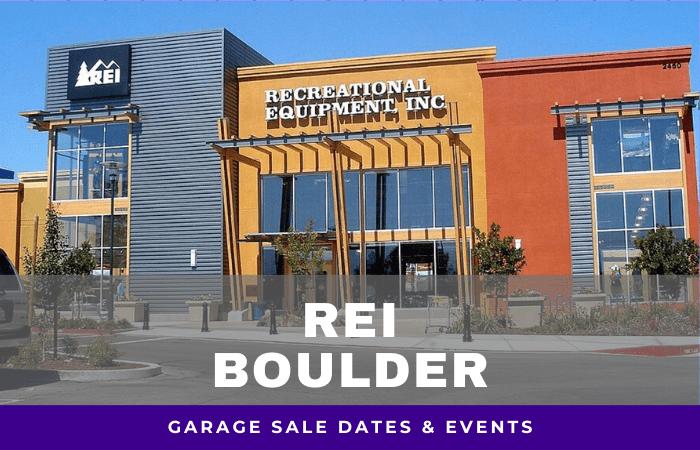 REI Boulder Garage Sale Dates