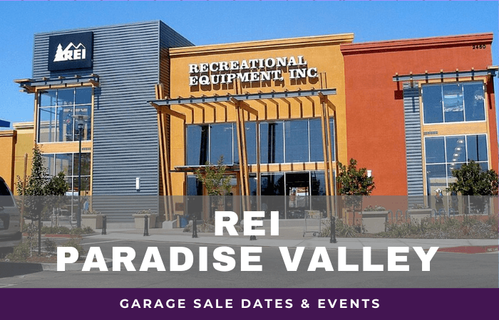 REI Paradise Valley Garage Sale Dates, rei garage sale paradise valley arizona