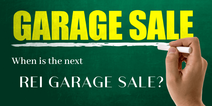 When is the next REI GARAGE SALE_