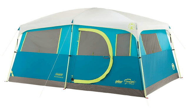 Coleman Tenaya Lake 8 Person Fast Pitch Instant Cabin Camping Tent with Weathertec