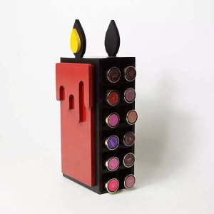 candle lipstick makeup organizer