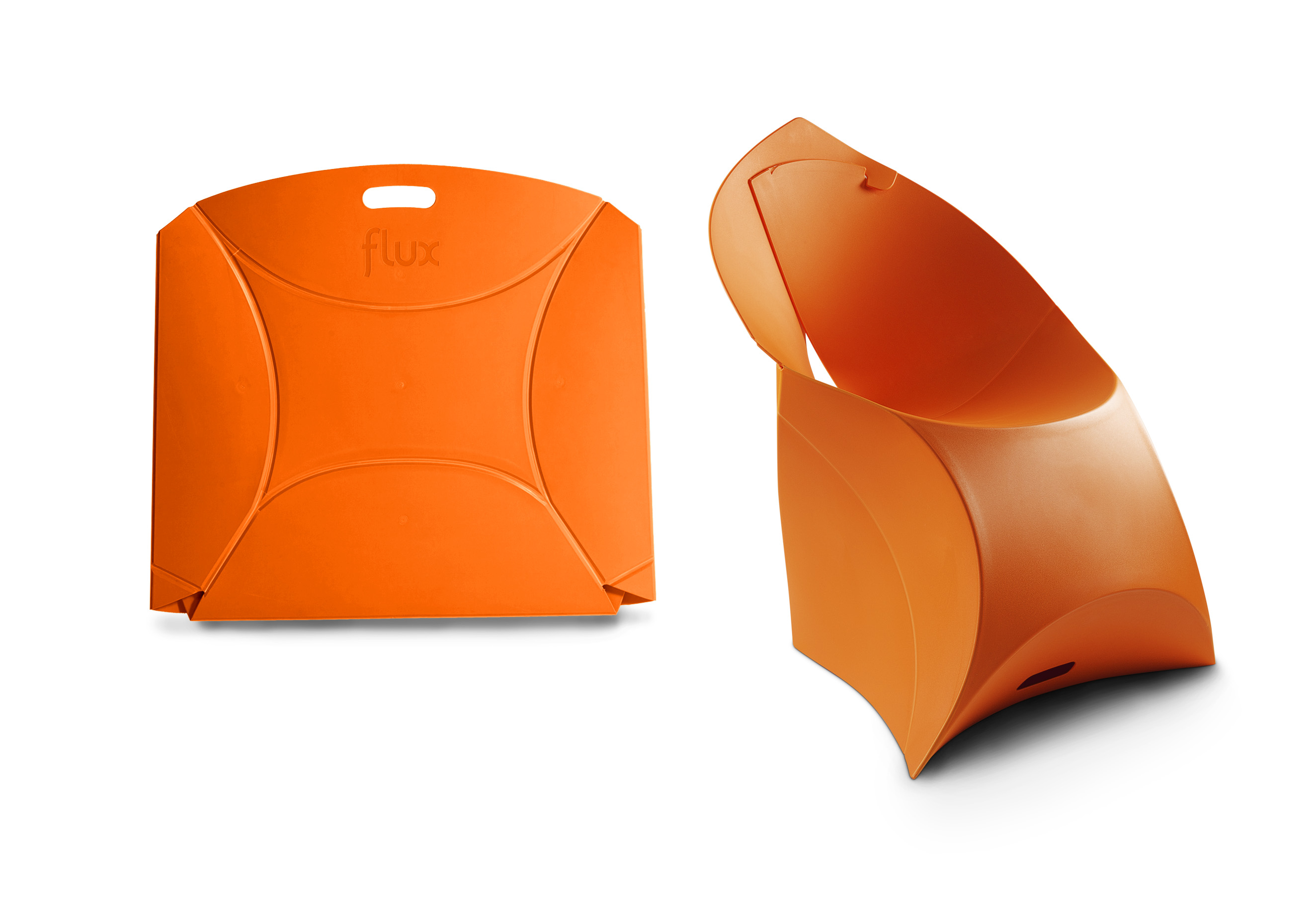 Origami Inspired Flux Chairs  for interieur blog