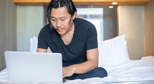 A man running his digital business