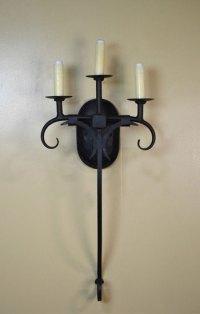 Hacienda Triple Spanish Style Sconces - Forja Lighting
