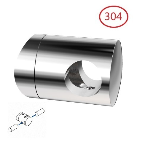 support de barre transversale joint a double tige de 12 mm