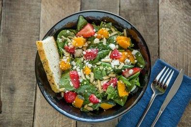 Roasted Kabocha Squash & Strawberry Salad.
