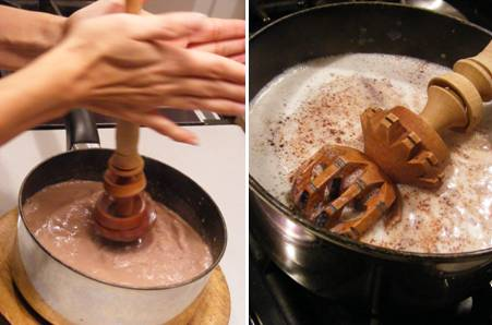 Frothing Mexican Hot Chocolate_ForkFingersChopsticks.com