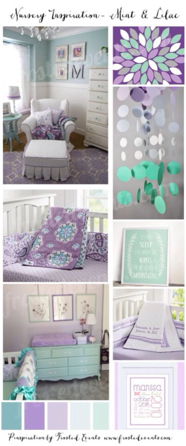 Image of: Nursery Design Mint And Lilac Nursery Ideas