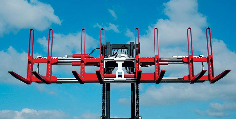Durwen Forklift Attachments  Pallet Rotators  Double Pallet Handlers