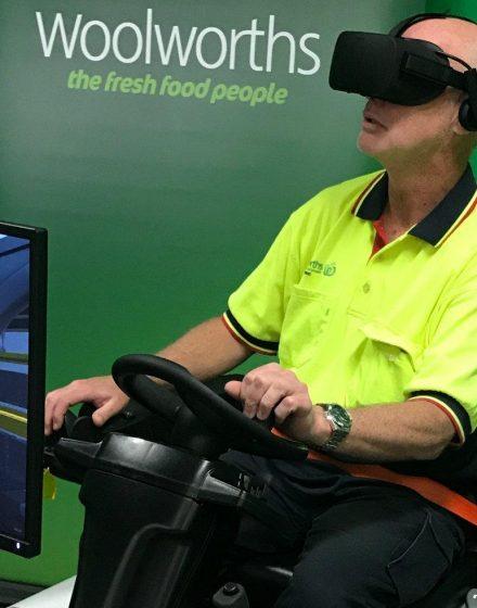 Forklit-Simulator at Woolworths Australia