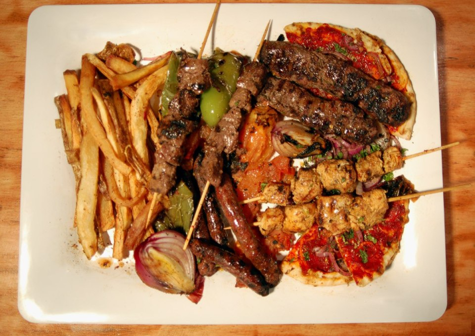 Au Za'atar Grilled Platter Overhead lo by Michael Tulipan