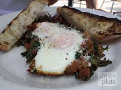 Eggs and Spicy Sausage