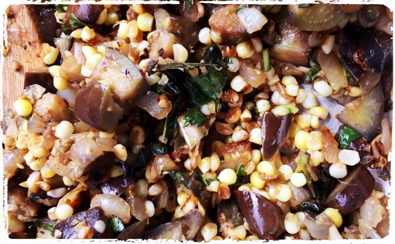 eggplant and corn relish