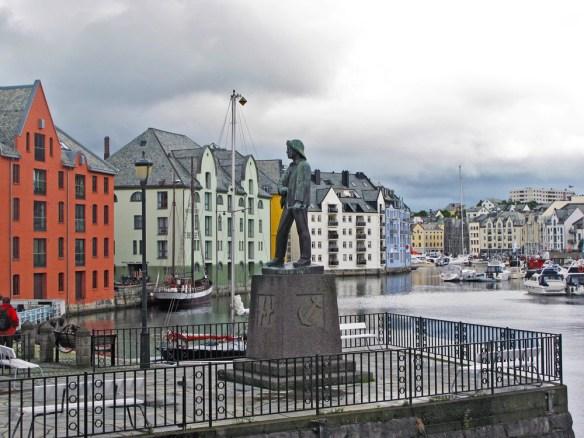 Alesund harbour Norway Spirit of the Vikings