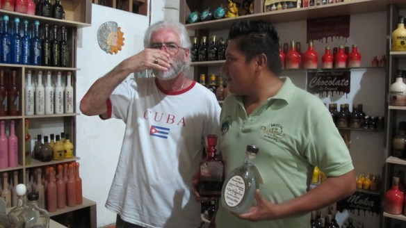Mezcal comes with worms, scorpions, in various flavours, simple aged mezcal is a smooth surprise.