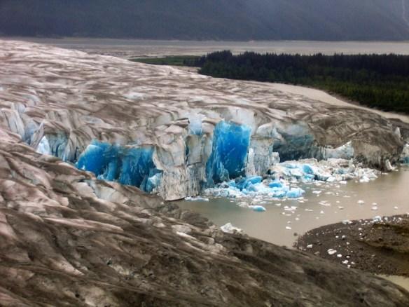 calved glacier Alaska