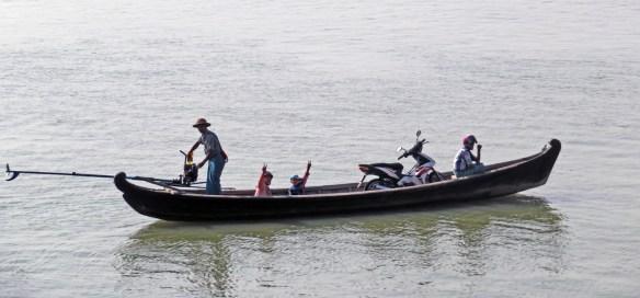 egg beater boat Amawaterways cruise Myanmar