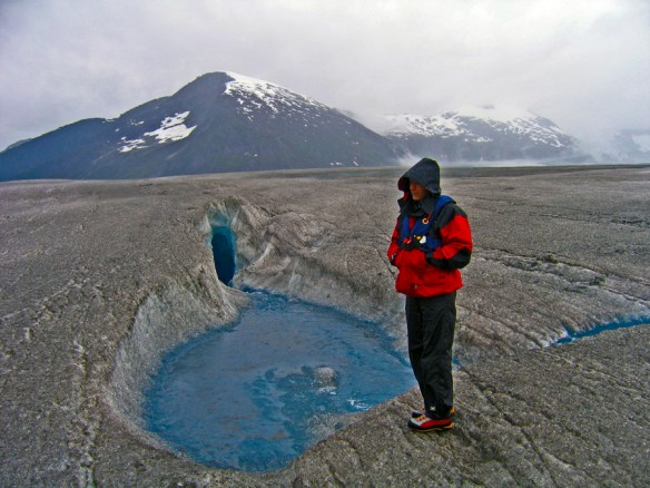 pilot at crevasse Alaska