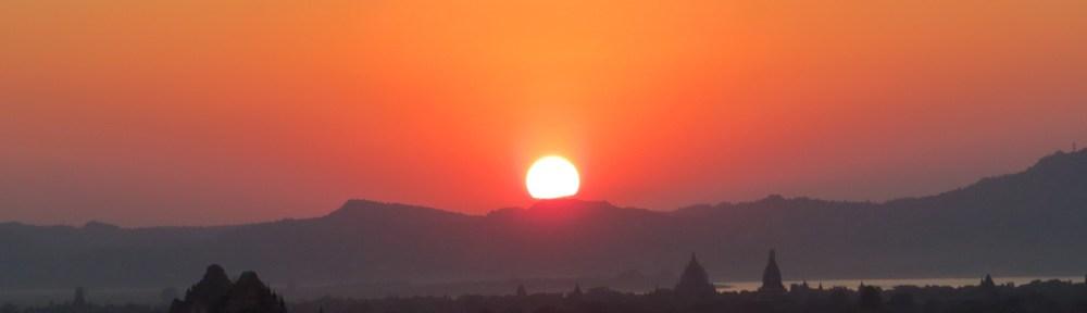sunset Bagan Amawaterways Cruise Myanmar