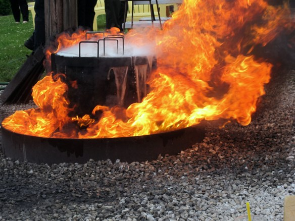 Door County Fish Boil boil over of water